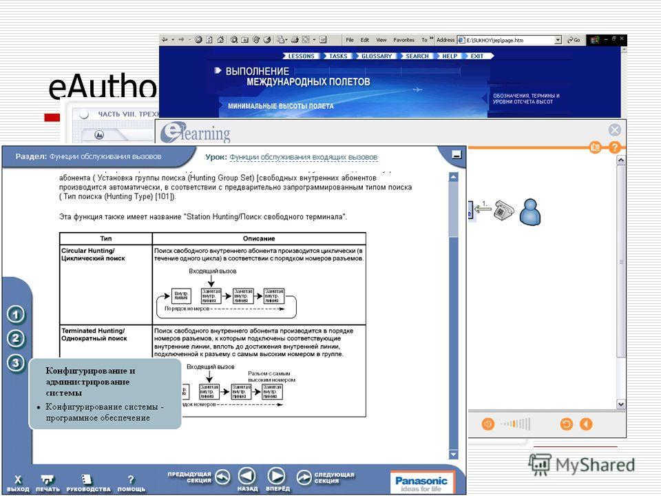 eAuthor – примеры курсов