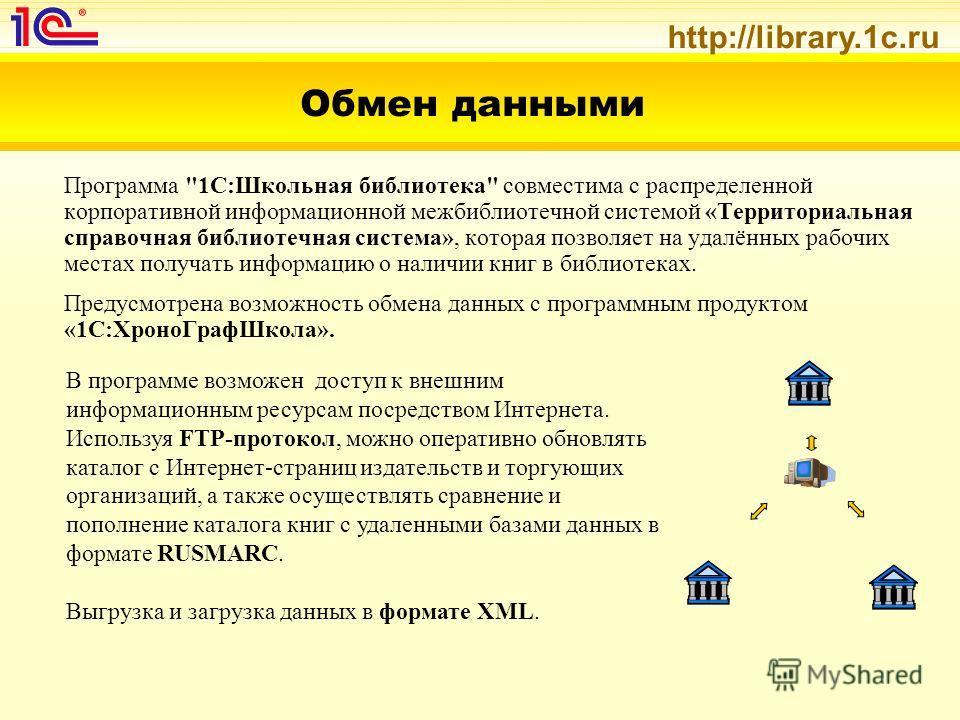 http://library.1c.ru Обмен данными Программа