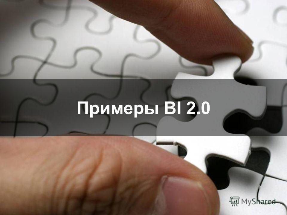 Примеры BI 2.0