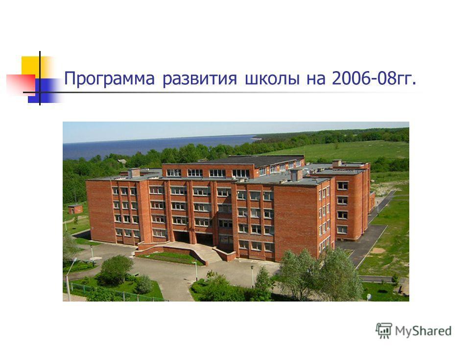 Программа развития школы на 2006-08гг.