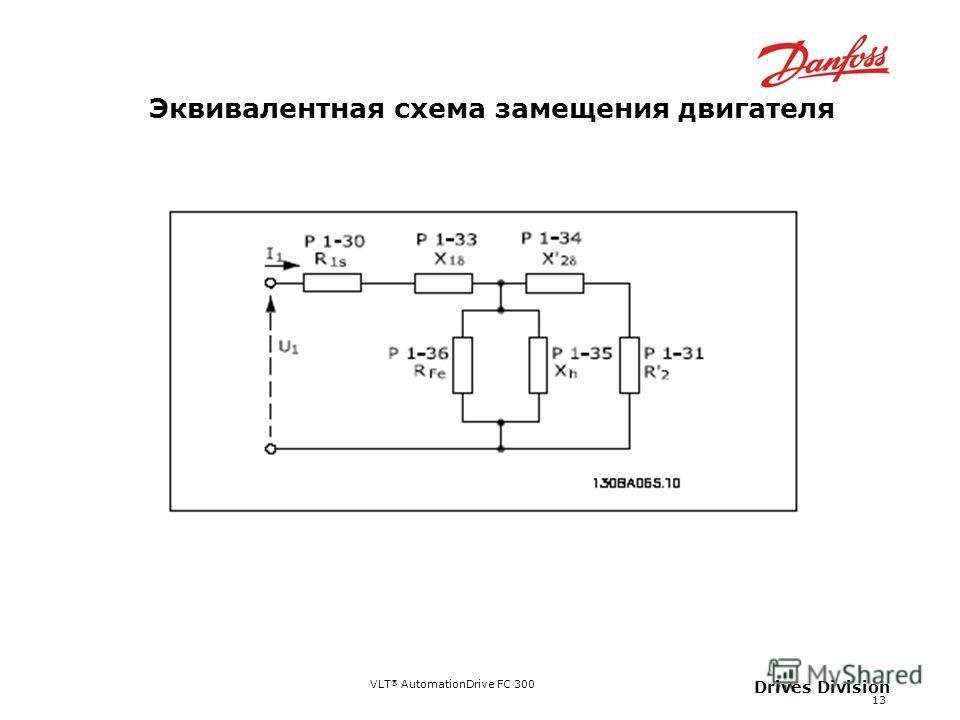 VLT ® AutomationDrive FC 300 13 Drives Division Эквивалентная схема замещения двигателя