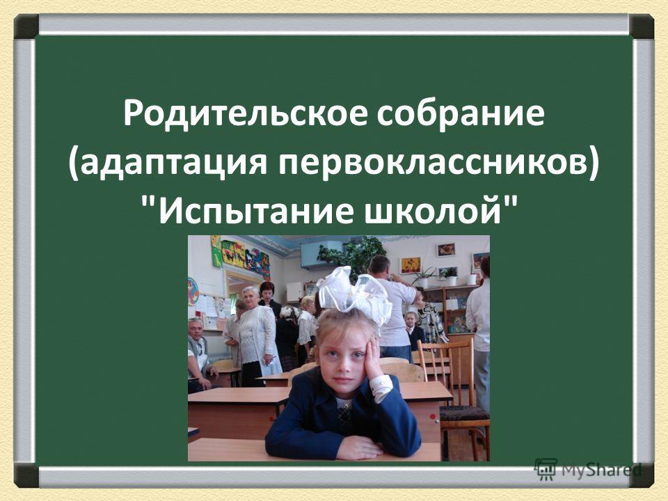 Родительское собрание (адаптация первоклассников) Испытание школой