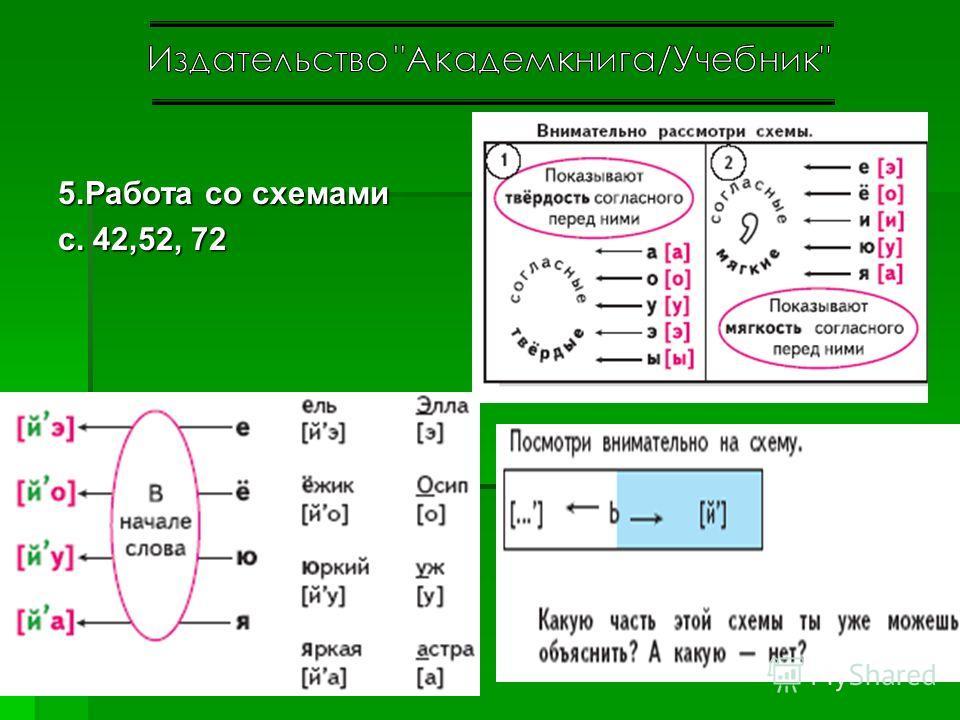5.Работа со схемами с. 42,52, 72