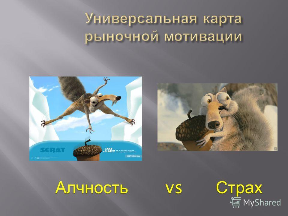 Алчность vs Страх Алчность vs Страх