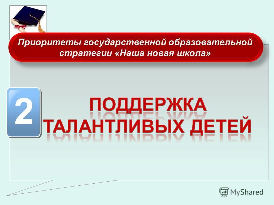 Приоритеты государственной образовательной стратегии «Наша новая школа» 2