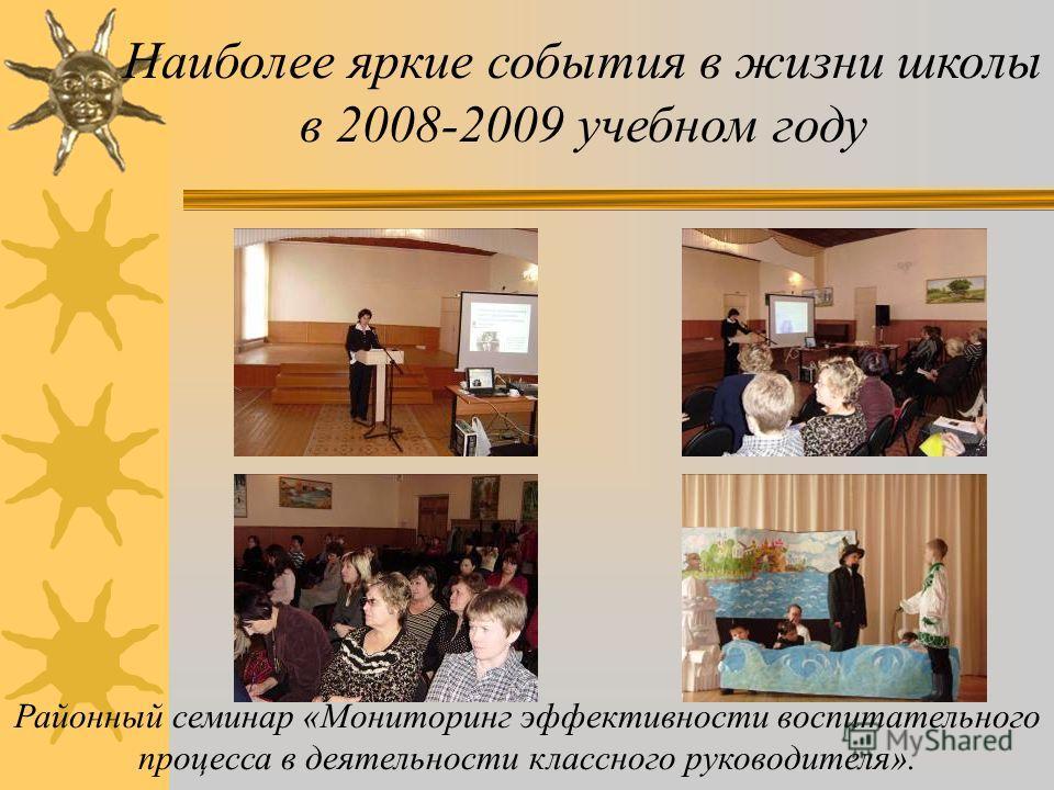 8 марта Наиболее яркие события в жизни школы в 2008-2009 учебном году