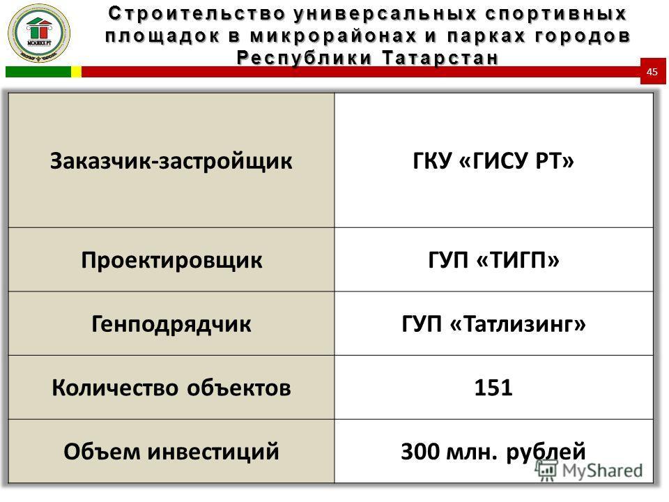 Строительство универсальных спортивных площадок в микрорайонах и парках городов Республики Татарстан 45