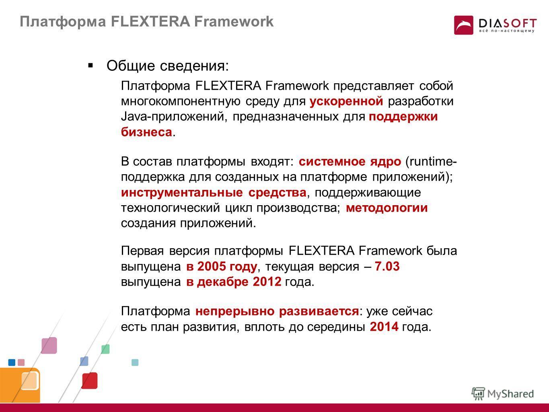 О платформе FLEXTERA Framework Константин Варов Директор Департамента Департамент Развития Платформы FLEXTERA Компания «Диасофт»
