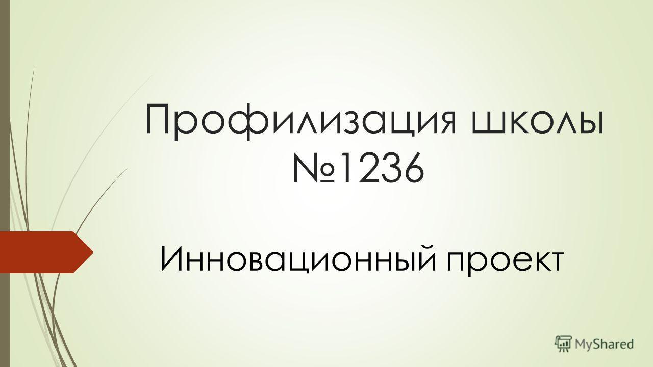 Профилизация школы 1236 Инновационный проект