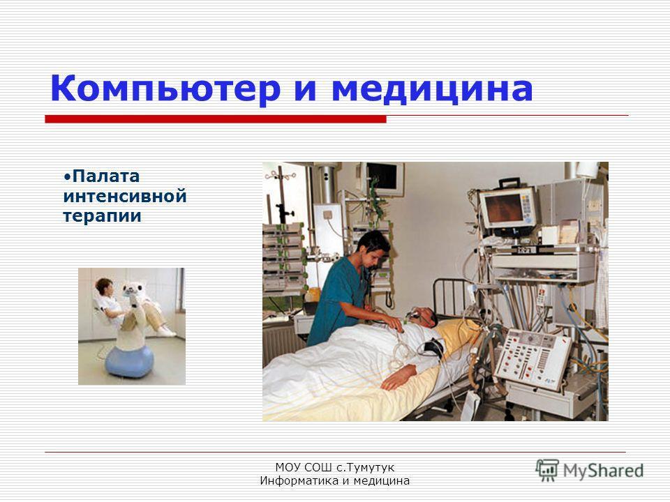 МОУ СОШ с.Тумутук Информатика и медицина Компьютер и медицина Палата интенсивной терапии