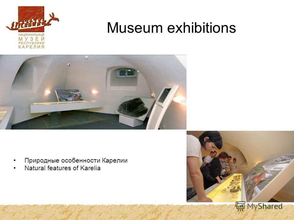 Museum exhibitions Природные особенности Карелии Natural features of Karelia