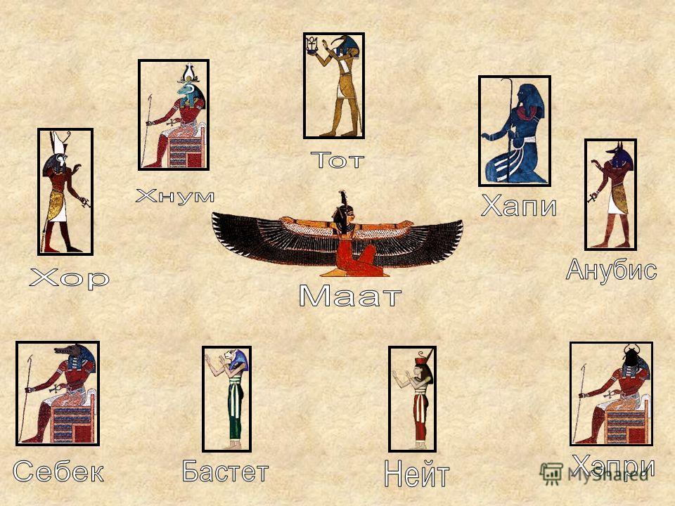 В Древнем Египте не было единой религии, в каждом номе и городе существовал собственный пантеон богов. Постепенно из всех богов стала выделяться могущественная группа, состоящая из 9 богов – «эннеада», которую египтяне называли Великой девяткой. Вско
