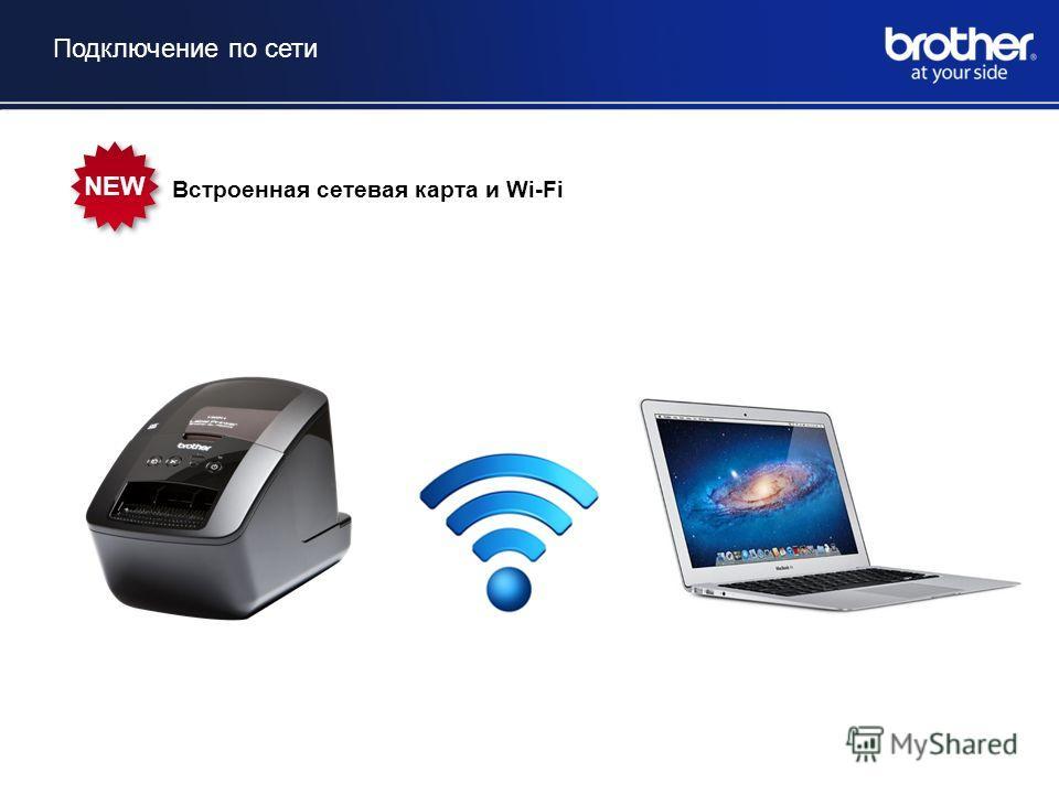 Подключение по сети Встроенная сетевая карта и Wi-Fi NEW