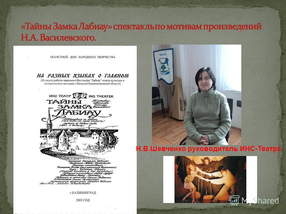 Н.В.Шевченко руководитель ИНС-Театра