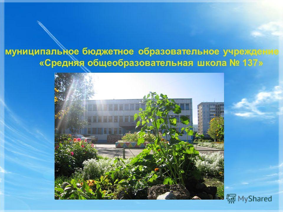 муниципальное бюджетное образовательное учреждение «Средняя общеобразовательная школа 137»