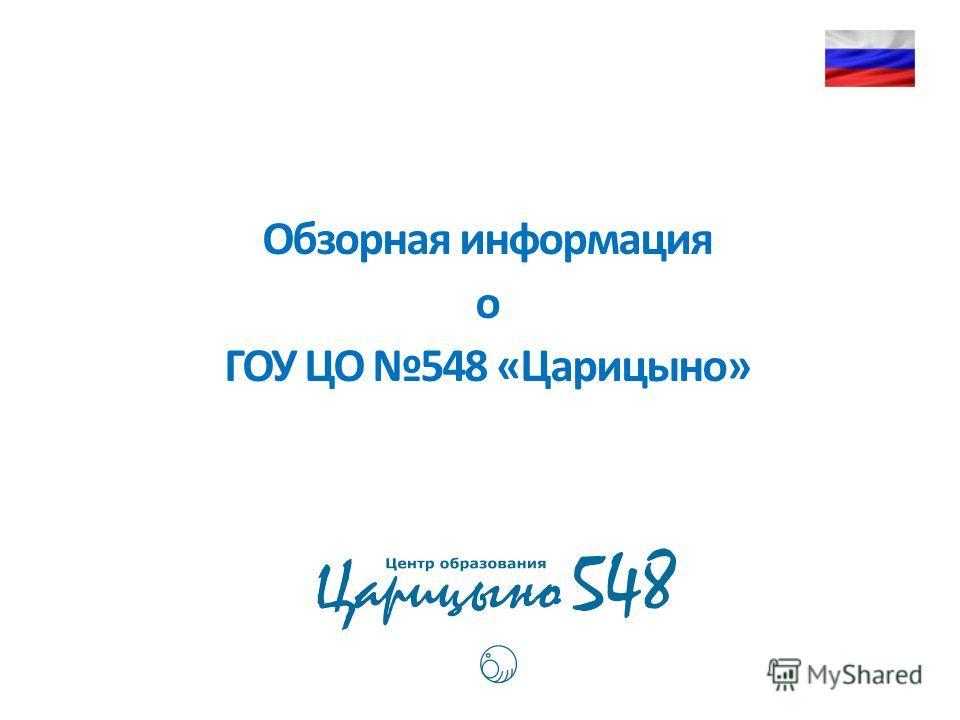 Обзорная информация о ГОУ ЦО 548 «Царицыно»