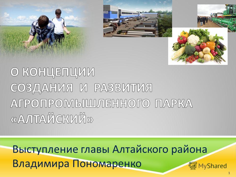 Выступление главы Алтайского района Владимира Пономаренко 1