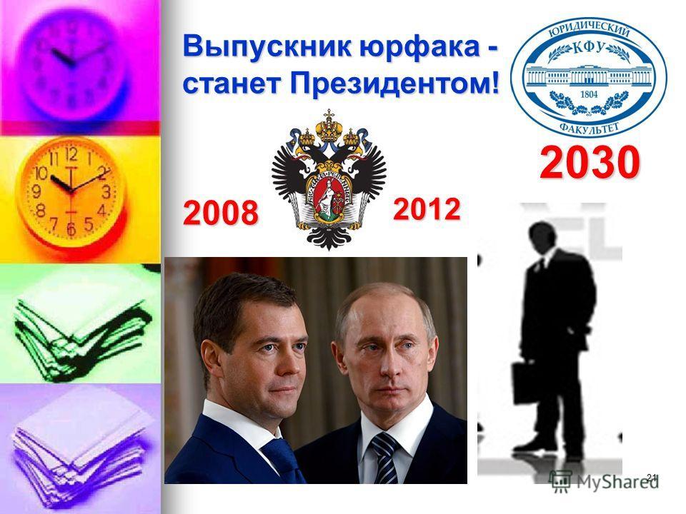 21 Выпускник юрфака - станет Президентом! 2008 2030 2012