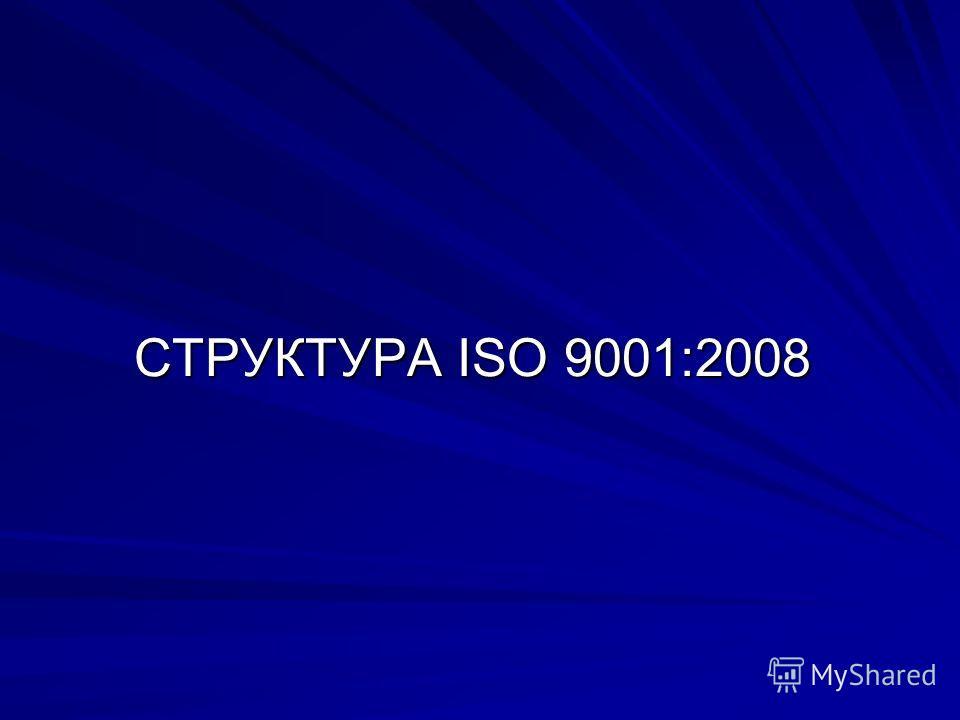 СТРУКТУРА ISO 9001:2008
