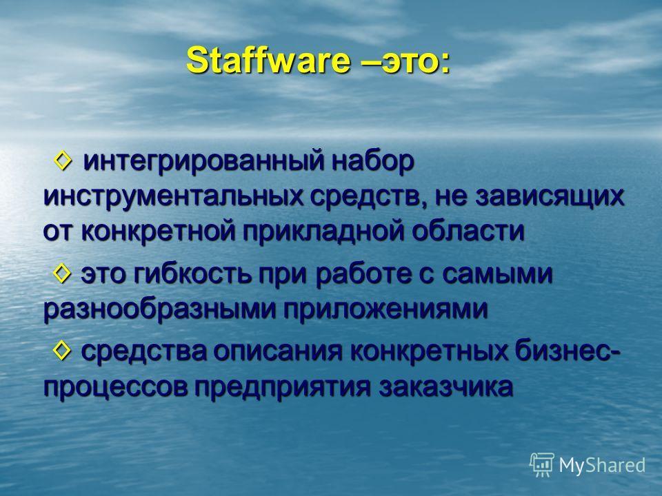 интегрированный набор инструментальных средств, не зависящих от конкретной прикладной области интегрированный набор инструментальных средств, не зависящих от конкретной прикладной области это гибкость при работе с самыми разнообразными приложениями э