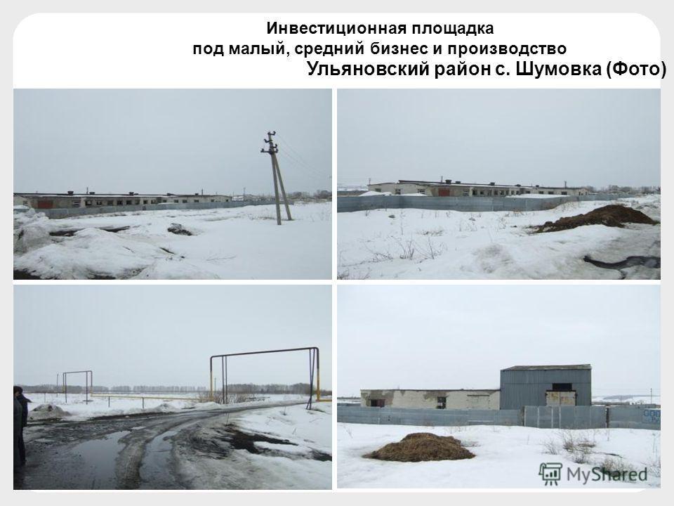 Ульяновский район с. Шумовка (Фото) Инвестиционная площадка под малый, средний бизнес и производство