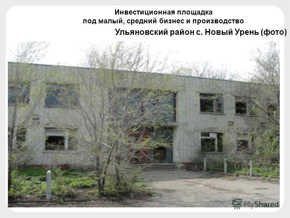 Ульяновский район с. Новый Урень (фото) Инвестиционная площадка под малый, средний бизнес и производство