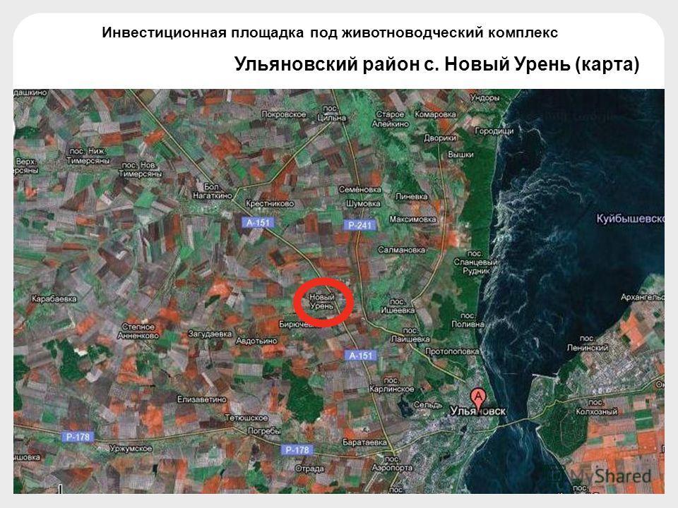 Ульяновский район с. Новый Урень (карта) Инвестиционная площадка под животноводческий комплекс