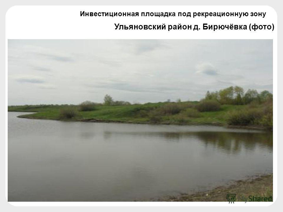 Ульяновский район д. Бирючёвка (фото) Инвестиционная площадка под рекреационную зону