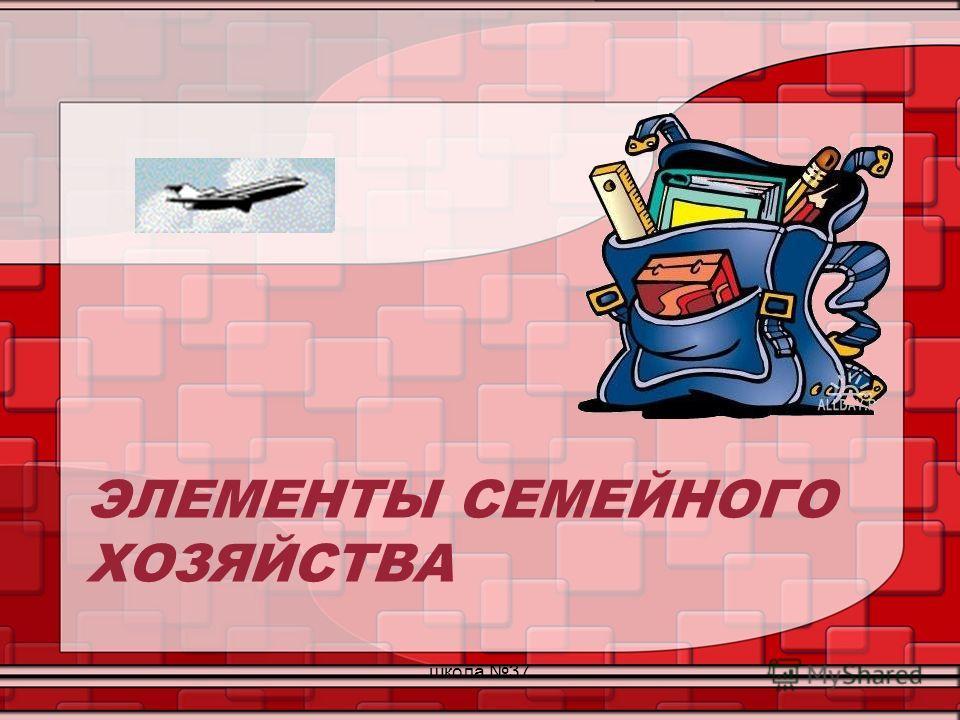 ЭЛЕМЕНТЫ СЕМЕЙНОГО ХОЗЯЙСТВА школа 37