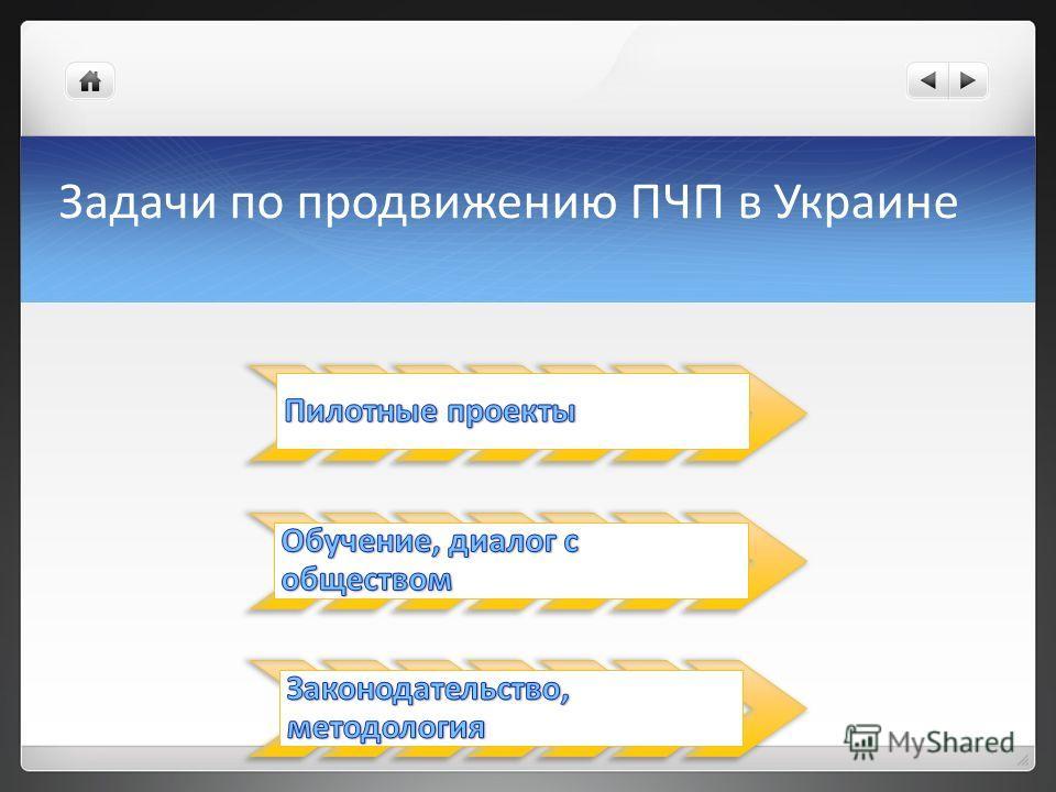 Задачи по продвижению ПЧП в Украине