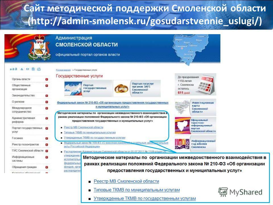 Сайт методической поддержки Смоленской области (http://admin-smolensk.ru/gosudarstvennie_uslugi/)