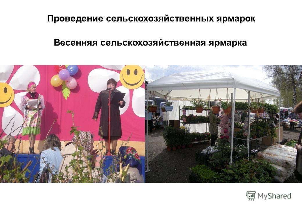 Проведение сельскохозяйственных ярмарок Весенняя сельскохозяйственная ярмарка