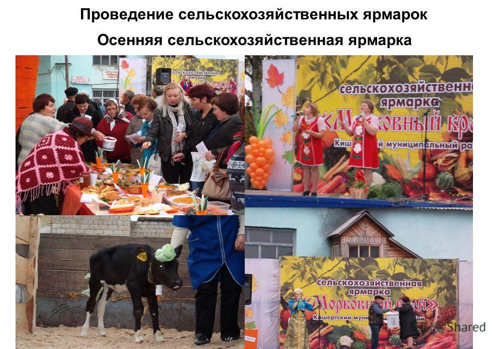 Проведение сельскохозяйственных ярмарок Осенняя сельскохозяйственная ярмарка