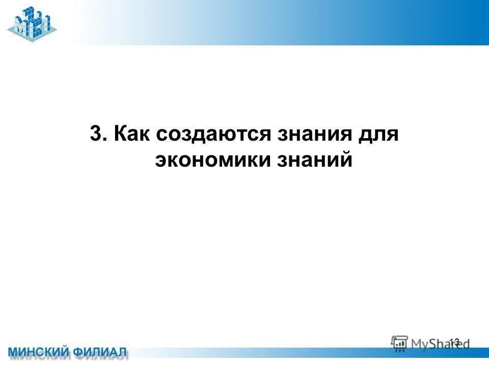 3. Как создаются знания для экономики знаний 13