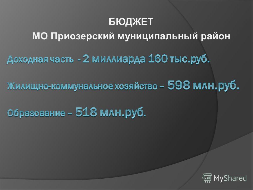 БЮДЖЕТ МО Приозерский муниципальный район