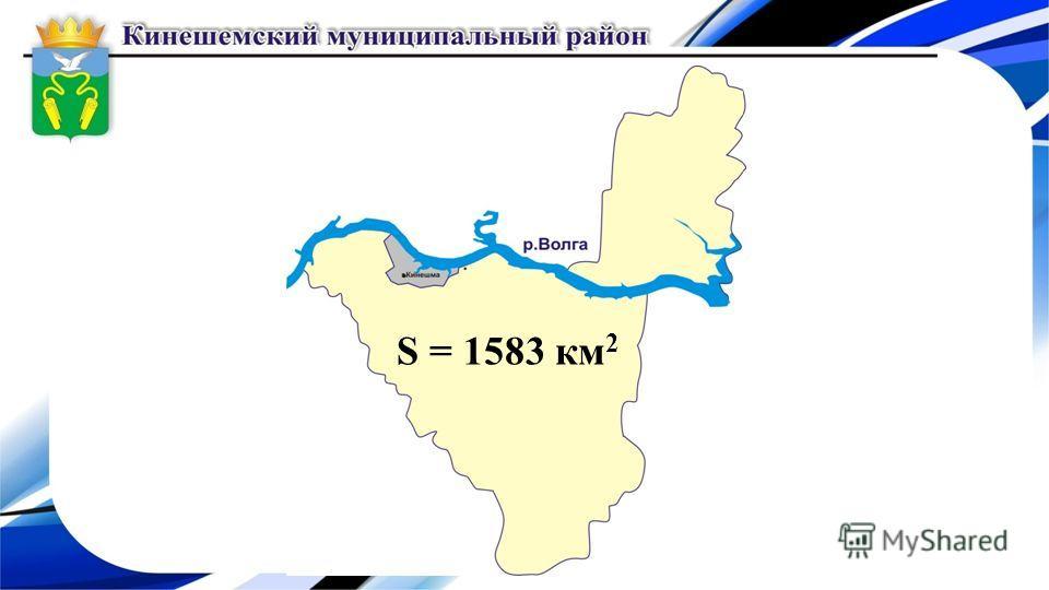 S = 1583 км 2