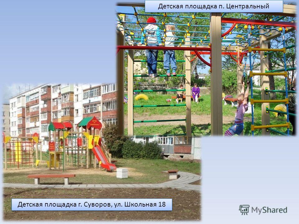 Детская площадка п. Центральный Детская площадка г. Суворов, ул. Школьная 18