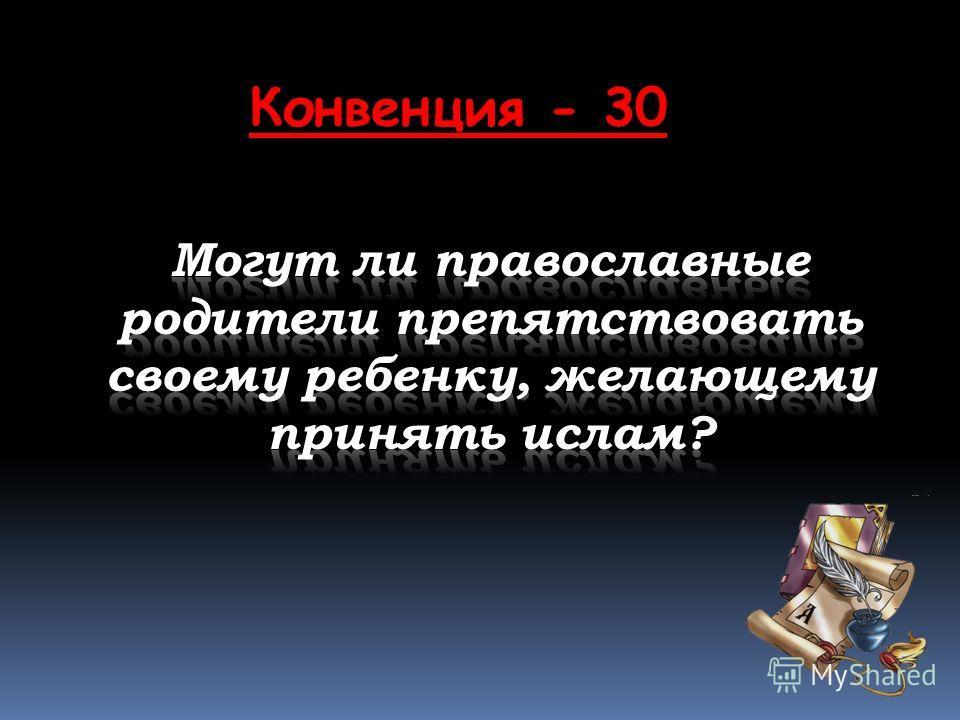Конвенция - 30
