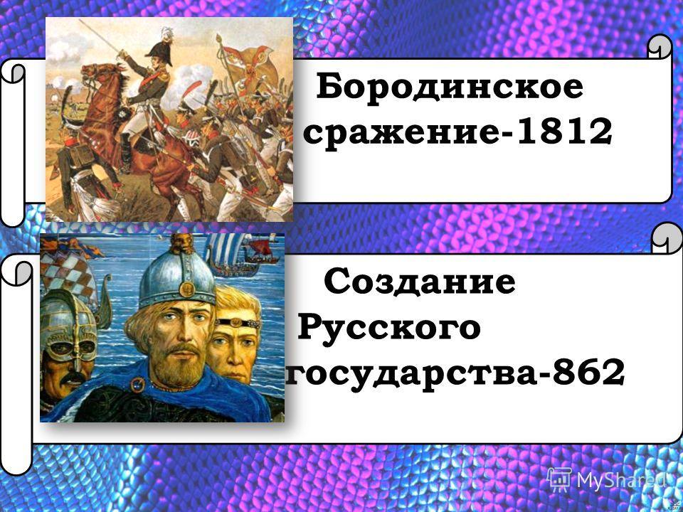 Бородинское сражение-1812 Создание Русского государства-862