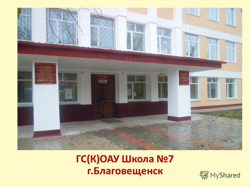 ГС(К)ОАУ Школа 7 г.Благовещенск