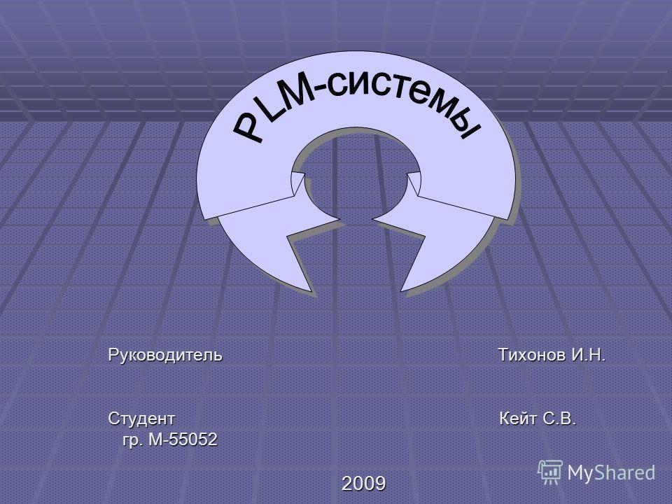 Руководитель Тихонов И.Н. Студент Кейт С.В. гр. М-55052 гр. М-550522009