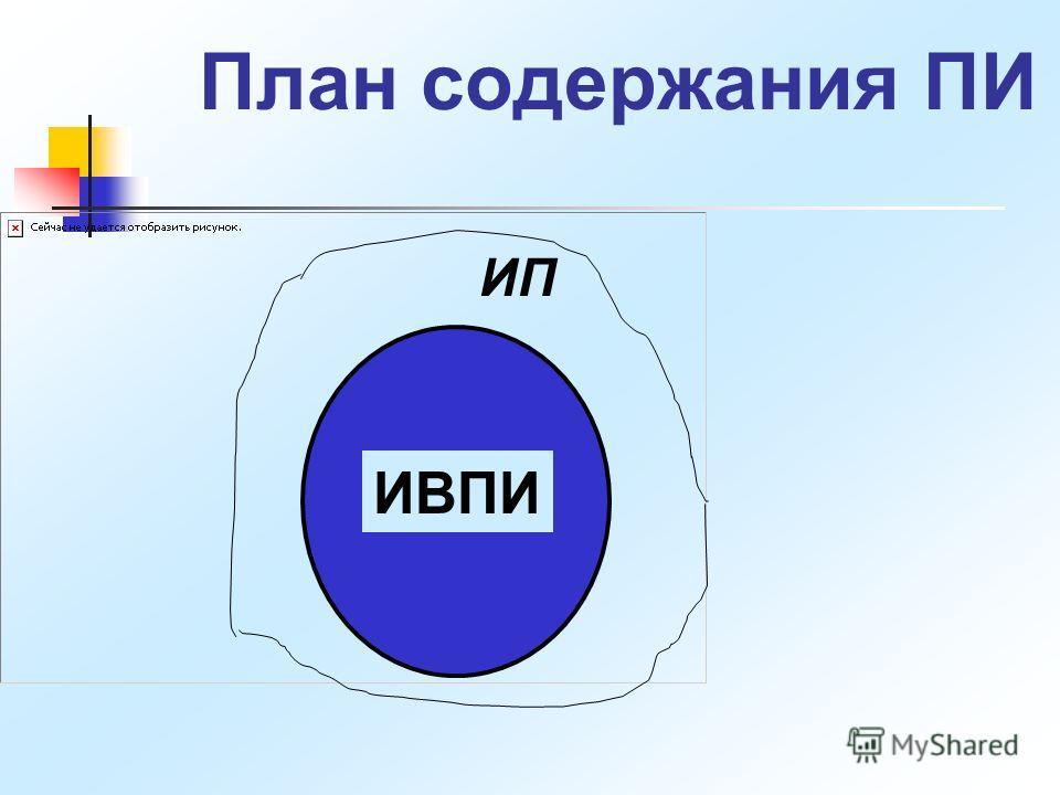 План содержания ПИ ИП ИВПИ