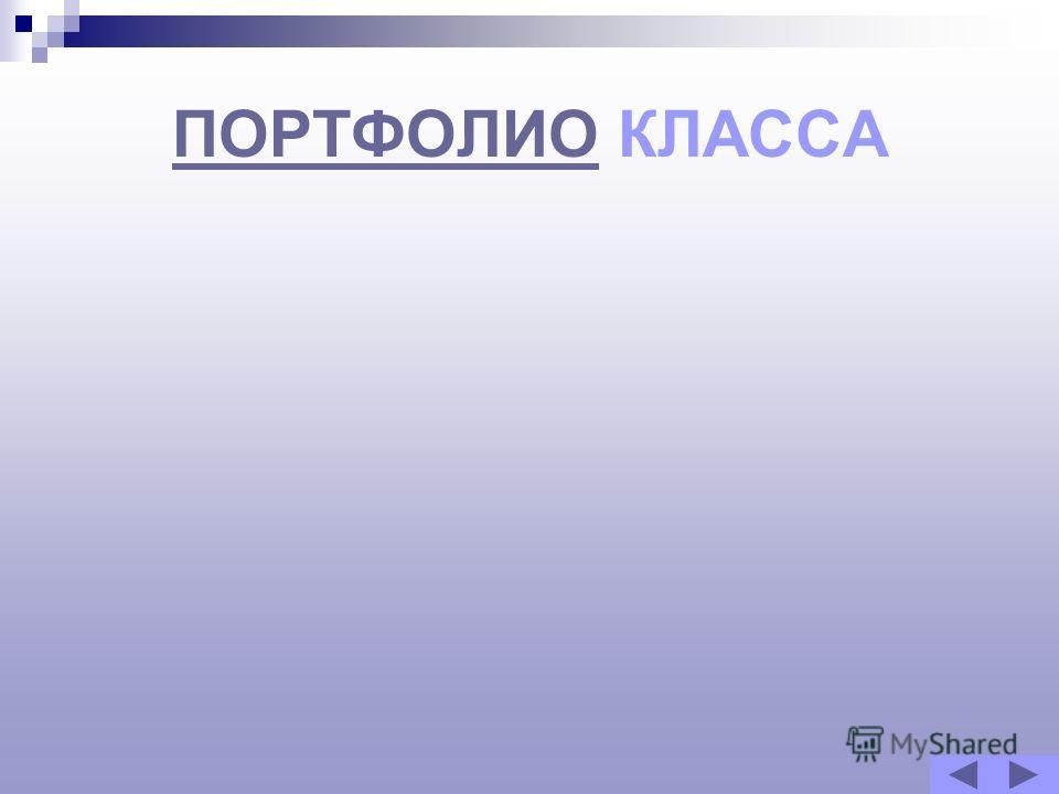 ПОРТФОЛИОПОРТФОЛИО КЛАССА