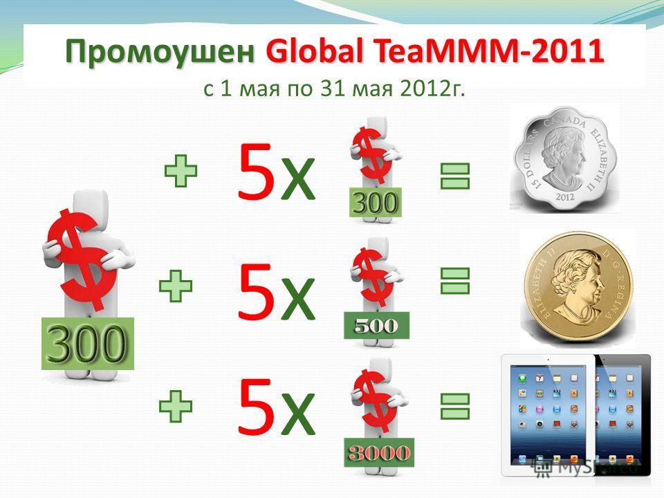 Промоушен Global TeaMММ-2011 с 1 мая по 31 мая 2012г. 5х5х 5х5х 5х5х