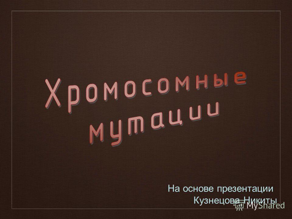 На основе презентации Кузнецова Никиты