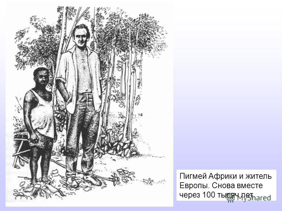 Пигмей Африки и житель Европы. Снова вместе через 100 тысяч лет