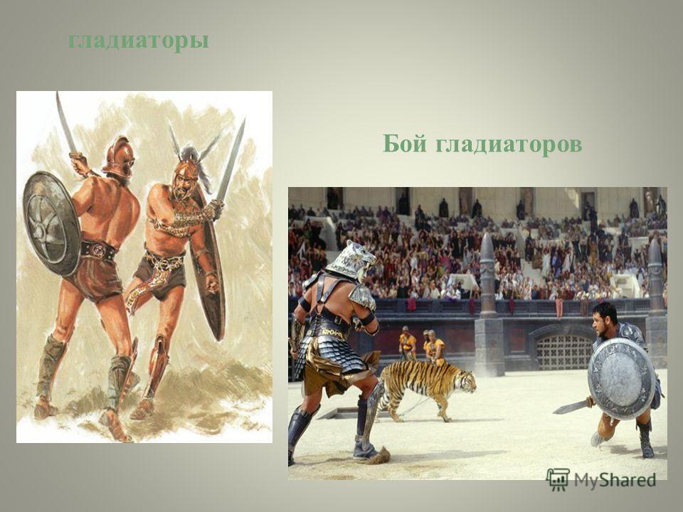 гладиаторы Бой гладиаторов