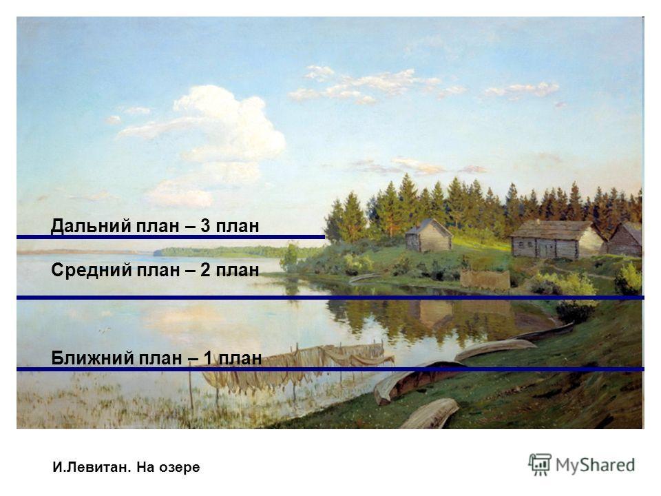 И.Левитан. На озере Дальний план – 3 план Средний план – 2 план Ближний план – 1 план