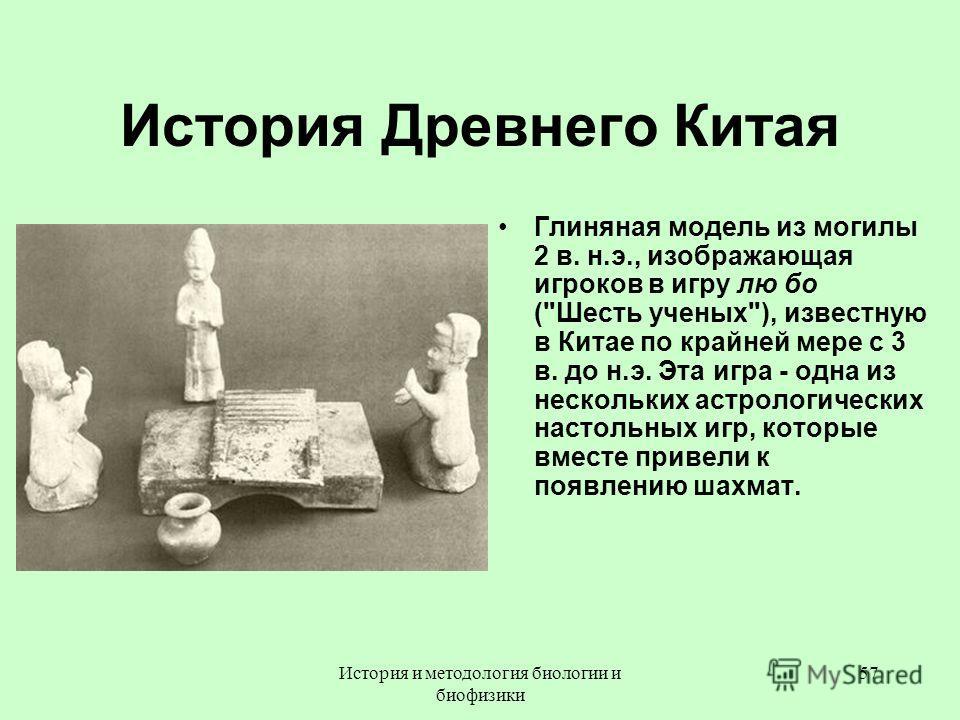 История Древнего Китая Глиняная модель из могилы 2 в. н.э., изображающая игроков в игру лю бо (