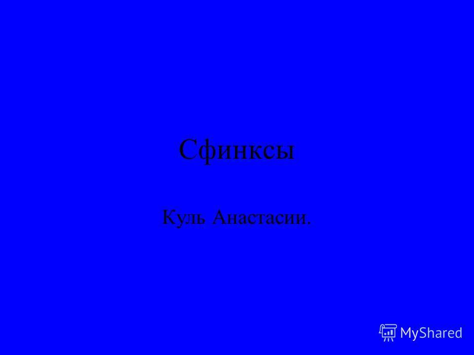 Сфинксы Куль Анастасии.